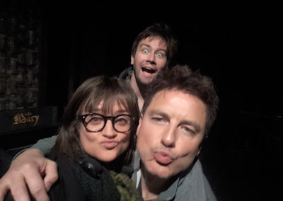 Marilla Wex Torrance Coombs and John Barrowman on Reign