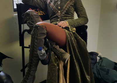 Rachel Skarsten behind the scenes on Reign by Marilla Wex