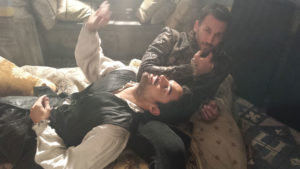 Sean Teale and Craig Parker up to no good in the Reign throne room by Marilla Wex